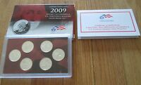 2009 Silver Quarter Proof Set U.S. Mint  Box & COA 6 State Silver Quarters