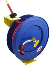 "Retractable Air Hose Reel 3/8"" x100' Industrial Grade Kink Resistance With USA M"