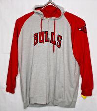 Zipway NBA Men's Chicago Bulls Majestic Fleece Hoodie, Gray/Red 5XL RN 135969