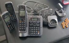 Panasonic Kx-Tg7641 Cordless Phone Base w/ 3 Handsets & chargers Bluetooth 6.0