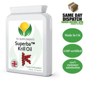 Superba Pure Antarctic KRILL OIL Extract 500mg 60 Capsules
