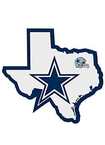 """Siskiyou Sports NFL Home State Decal - Dallas Cowboys 5"""" Repositionable vinyl"""