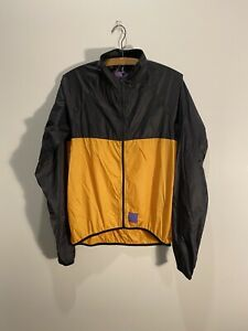 ringtail california cycling breeze breaker jacket black yellow medium men's USA