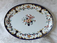 Davenport Large Blue and Coloured Oval Platter c1850 Vassoio ovale Davenport