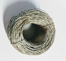 2 ply unwaxed natural color linen thread, 375 yards spool