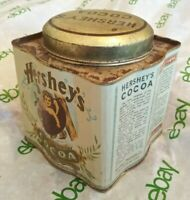 Vintage RARE Made in HONG KONG Hershey's Cocoa Collectors Old RUSTED Metal Tin