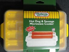 Nathan's Famous HMC400 Hot Dog & Sausage Microwave Cooker Coney Island New York
