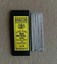 100 Pcs Useful Assorted Hand Sewing Needles No.8 Size 5.5 cm. (Double Long)