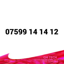 07599 14 14 12 EASY MOBILE NUMBER PAY AS YOU GO SIM CARD UK GOLD PLATINUM VIP