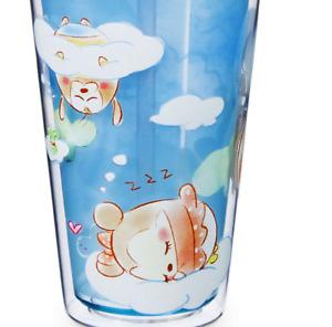 Disney Tsum Tsum Cup Straw Tumbler Kids Water Bottle Mickey Minnie Donald Duck