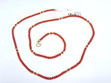 Collana Nuova Corallo Rosso Originale cm 44 da Donna Oro Giallo 18kt  Befana