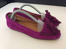 Lanvin NEW pink Suede Leather Moccasins Shoes RRP £315 Bnwob Size 37 Uk 4 Flats