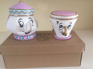 Disney Mrs Potts Teapot & CHIP Cup Purses (2 items) from Beauty & The Beast-NEW