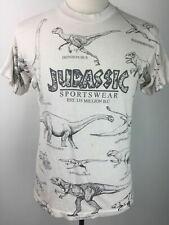 Vtg 90s Jurassic Sportswear Dinosaur All Over Print T Shirt Brontosaurus Stego M
