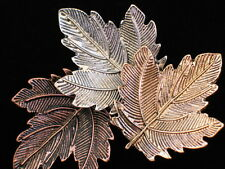 Bronze Copper Pewter Autumn Fall Falling Blowing Leaves Leaf Pin Brooch Jewelry