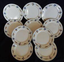 * Série de 10 assiettes anciennes à dessert VILLEROY ET BOCH (21.5 cm)