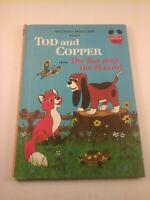 Vtg 1981 Walt Disney's TOD & COPPER Wonderful World of Reading Kids HC Book