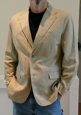 NWT Marc Ecko-Mens-Size Large, Medium Weight Tan Cotton Blazer/Sport Coat