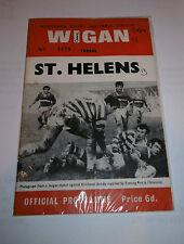 Wigan v St Helens 9th December 1969 B.B.C. 2 Floodlit Competition Semi-Final