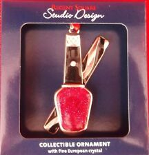 REGENT SQUARE X-MAS CHRISTMAS FINE EUROPEAN CRYSTAL ORNAMENT NAIL POLISH NEW