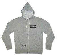 Muse Psycho Grey Zip Hoodie Sweatshirt New Official Adult