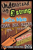 3 String Lessons Cigar Box Blues Guitar - Vintage stye resonator slide amp Dobro