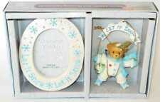Cherished Teddies - ornamentand Picture Frame Set - Let It Snow - 118388