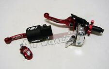 ASV F3 Holiday Pro Pack Shorty Clutch Brake Lever Honda XR650L XR 1993-2015 Red