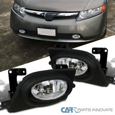 Fog Lights For Honda 06-08 Civic Clear Bumper Driving Lamps Pair+Switch DX/GX