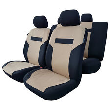 New Promotional 11pcs Airbag Safe Beige Polyester Car Seat Covers For Vehicles