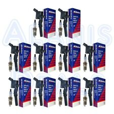 Set of 10 Motorcraft Spark Plugs + 10 ACDelco Ignition Coils Ford V10-6.8L