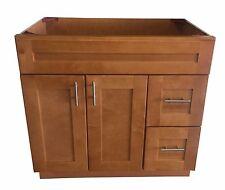 "New Maple Shaker Single-sink Bathroom Vanity Base Cabinet 36"" Wide x 21"" Deep"