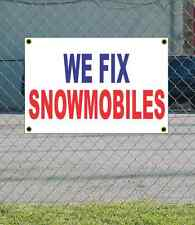 2x3 WE FIX SNOWMOBILES Red White & Blue Banner Sign NEW Discount Size & Price