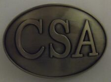 CSA BELT BUCKLE -  NEW CSA CONFEDERATE DIXIE CIVIL WAR REBEL - BRASS COLOR