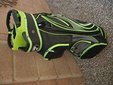 New listing SRB Lightweight Premium Golf Club Cart Bag - PRISTINE!!! neon green/black