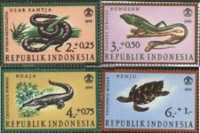 Indonesia 558-561 (complete issue) unmounted mint / never hinged 1966 Reptiles