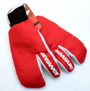 Answer Sleestak Winter Cycling Mitts Red MTB NEW