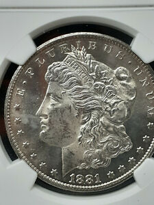 1881-CC MORGAN DOLLAR - MS 62 - NGC - CLEAN SURFACE CHECK THE PICTURES!!