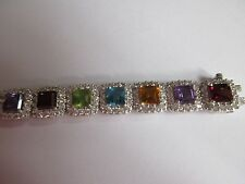 NEW--Judith Ripka Genuine Gemstone & Diamonique Bracelet