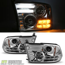 2009-2018 Dodge Ram [LED Plasma Tube] DRL Projector Headlights Lamps Left+Right