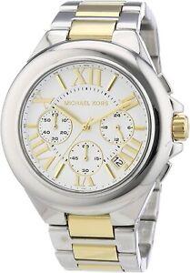 Michael Kors Women's Watch Ladies Two-Tone Steel Bracelet Chronograph MK5653