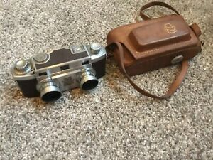 REVERE STEREO 33 CAMERA WITH CASE - NICE!