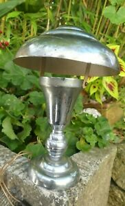 Lampe Art Déco Moderniste forme Champignon bon état d'usage abat jour amovible