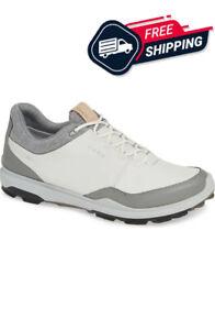 Ecco Men's Biom Hybrid 3 Gore-Tex® Golf Shoe Yak Leather Size 9-9.5 White/Black