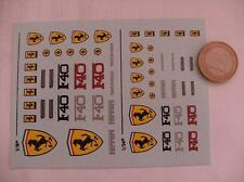 decals decalcomanie divers deco ferrari f40 1/24 1/18