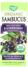 Nature's Way Organic Sambucus Elderberry Syrup, 4 oz (Pack of 3)