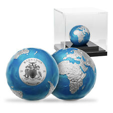 Limited Edition Blue Marble Spherical 3oz Silver Collectable Rare Earth Coin
