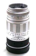 Leica 90mm f/2.8 Elmarit lens M mount 11129 chrome EXC+