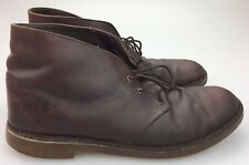 aba022ff95a Clarks Men s Bushacre 2 Desert Brown Leather Chukka Boots Size 10.5 M