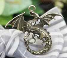 2pc Retro Bronze dragon pendant Bead Charms Accessories wholesale P1736